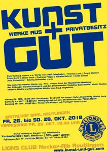 Aktueller KUNST UND GUT 2018 Flyer zum Download